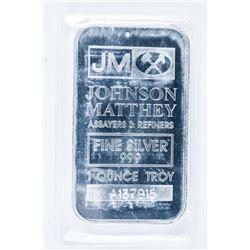 JM 'Johnson Matthey' Collector Bullion Bar  .999 Fine Silver 1oz
