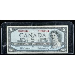 Bank of Canada 1954 5.00 Note (VG)