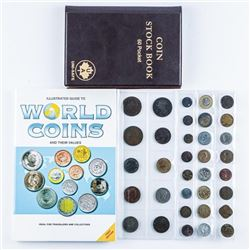 Group of World Coins Canada - Stock Book  Guide etc