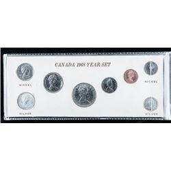 1968 Canada Year Set with 2 Silver Coins