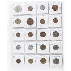 Group of (20) World Coins, England, France,  Belgium, Ireland, Austria etc
