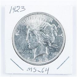 1923 USA Silver Peace Dollar MS-64