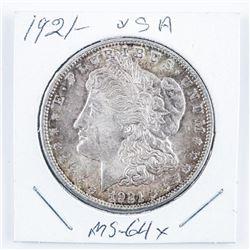 1921 USA Silver Morgan Dollar MS-64