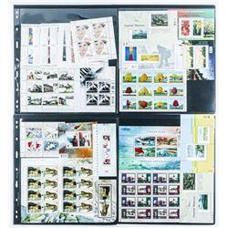 Grouping Canada Mint Stamps - Blocks, Semi  Blocks, Singles