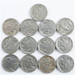 Group (13) USA 1928 Indian Head/Buffalo 5  cent