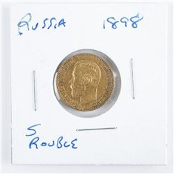 'Russia' 5R Gold Coin 1898