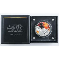 'Disney' Star Wars -.999 Fine Silver Coin -  'The Force Awakens' Poe Dameron