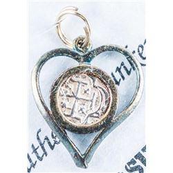 Authentic Sunken Treasure - Treasure Galleon  Sunk in 1622 Ancient Coin in Heart