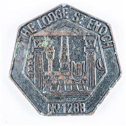 Masonic Standard Scottish Constitution Mark  Token Penny