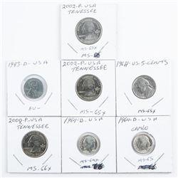 Group (7) USA Coins - High Grades