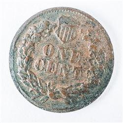 The Medal of Great Britain McClellan Price.  One Cent - Patriotic Civil War Token