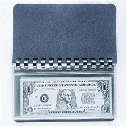 USA Silver Leaf Note Collection 9 Notes with  C.O.A. Plus Currency Album S/B