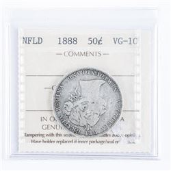 NFLD 1888 Silver 50 Cent VG10 ICCS