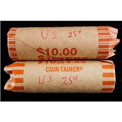 Lot (2) Rolls USA 25 Cents 80 Coins