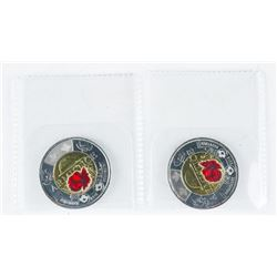 Lot (2) Armistice 2018 Special Issue 'Red  Poppy' 2.00
