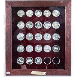 Estate Silver Dollar Collection - Wood Case,  23 Coins