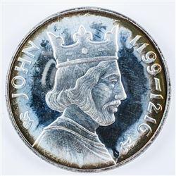 John, 925 Solid Sterling Silver Medal - 40  Grams