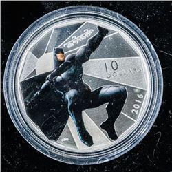 Warner Bros/ RCM - 'Batman v Superman' Dawn  of Justice .999 Fine Silver $10.00 Coin LE.  SOLD OUT.