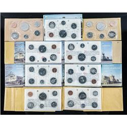 Grouping (20) Royal Canadian Mint PL/UNC Coin  Sets. 1960s, 1970s.