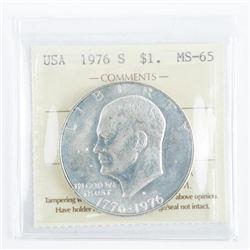 USA 1976 1.00 Coin MS65