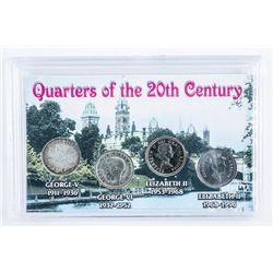Quarters of the 20th Century Cased