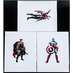 Group (3) Marvel Super Heroes 8x10 Lithos