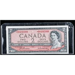 Bank of Canada 1954 2.00 Modified Portrait  *Replacement