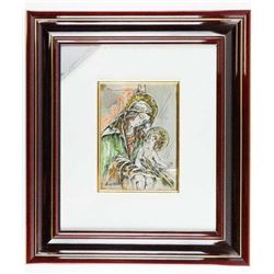Italy - .925 Solid Sterling Silver - Wall  Plaque, Gallery Frames. Approx. 14x16""