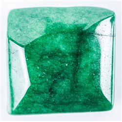 Loose Gemstone 12.75ct Square Cabochon Cut,  Emerald TRRV: $3830.00