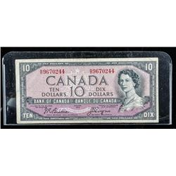 Bank of Canada 1954 10.00 Devil's Face (F)  B/C