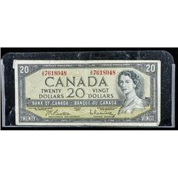 Bank of Canada 1954 20.00 Modified Portrait  (VG)