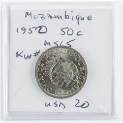 Mozambique 1950 50 cent MS65. KW#76