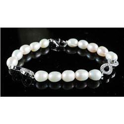 MYOTO Freshwater Pearl Bracelet with  Swarovski Elements Infinity Accents
