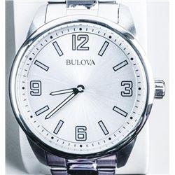 'Bulova' Gents Watch, Quartz, Stainless Band  - May Need Battery