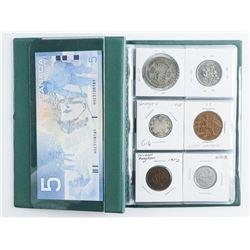 Coin Stock Book, (12) Coins Plus UNC 5.00