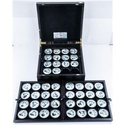 Collection - Presidents of USA 48 Medallions,  Silver Plated, Deluxe Presentation Case