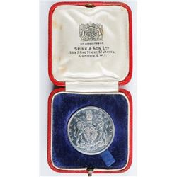 British Historical Medal 1937 Great Britain -  BHM - Silver Edward VIII Coronation Spink  and Son Lt