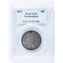 1873 NFLD 50 Cent PCGS. VF35