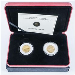 RCM 2005 - Commemorative of Chinese Railway  Workers Set 2x .9999 FIne Silver $8.00 Coins.  LE/C.O.A
