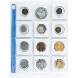 Group of (12) Tokens/Medals