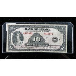Bank of CANADA 1935 10.00 Osbourne-Towers  BC-7 English