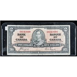 Bank of Canada 1937 2.00 (F) C/T BC22c