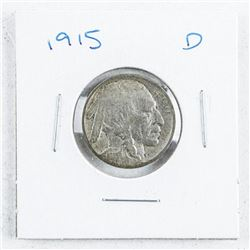 1915D USA Five Cents: Indian/Buffalo
