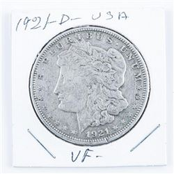 1921(D) USA Silver Morgan Dollar (VF)