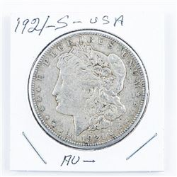 1921(S) USA Silver Morgan Dollar (AU)