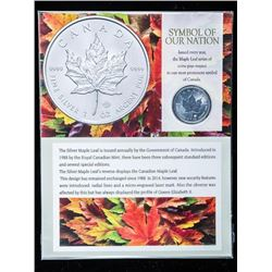 RCM Maple Leaf $5.00 2020 - .9999 Fine Silver  1oz