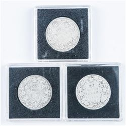 Group of (3) Silver 50 Cents - 1910, 1916,  1919