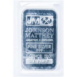 JM 'Johnson Matthey' Collector Bullion Bar  .999 Fine Silver 1oz