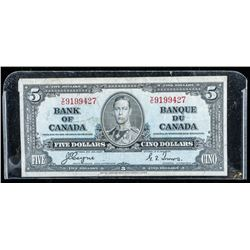 Bank of Canada 1937 5.00 (F) BC23c