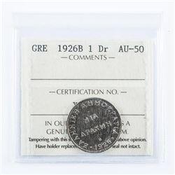 Greece 1926B 1DR AU50 ICCS